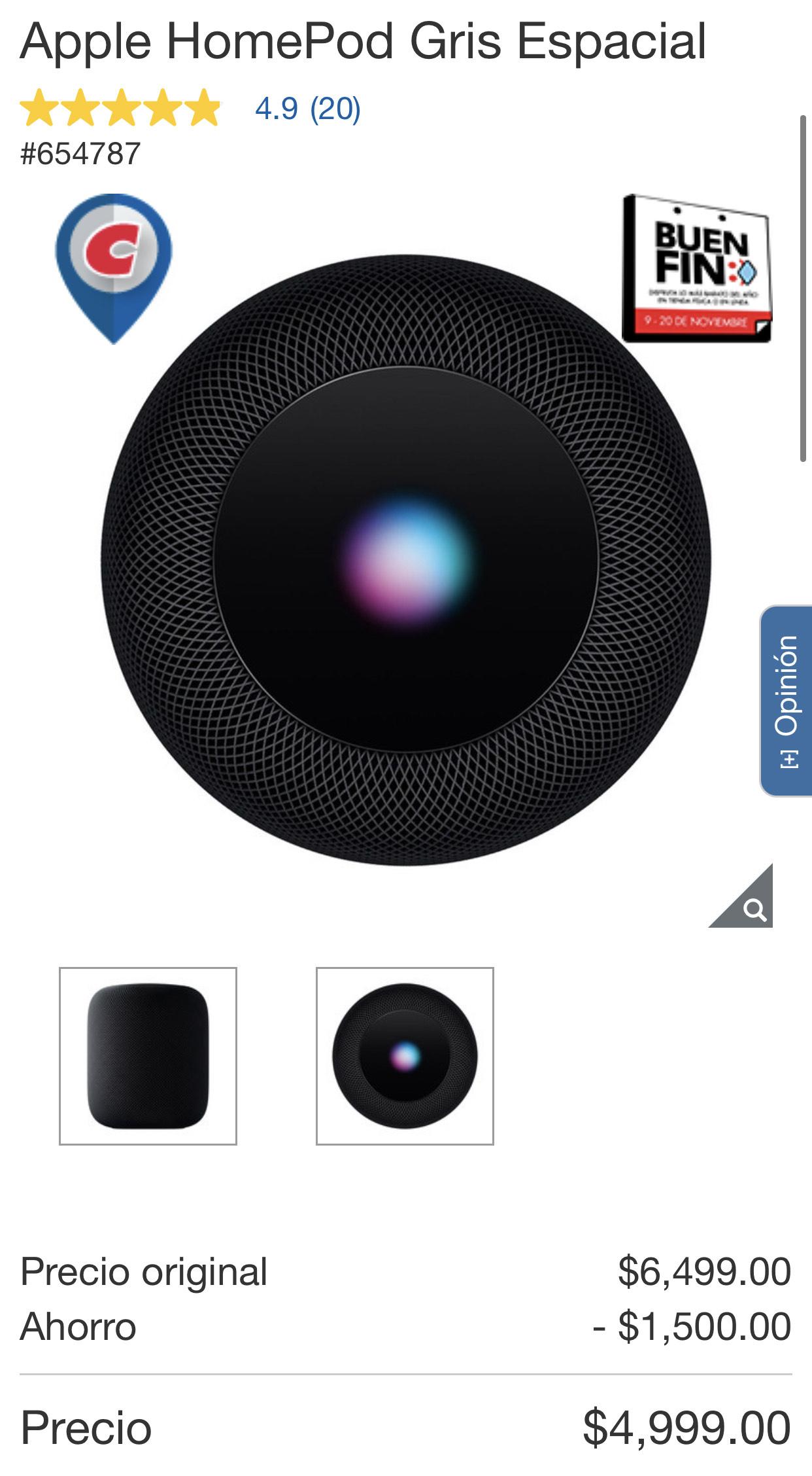 Costco - Apple HomePod en 4500 con Citibanamex