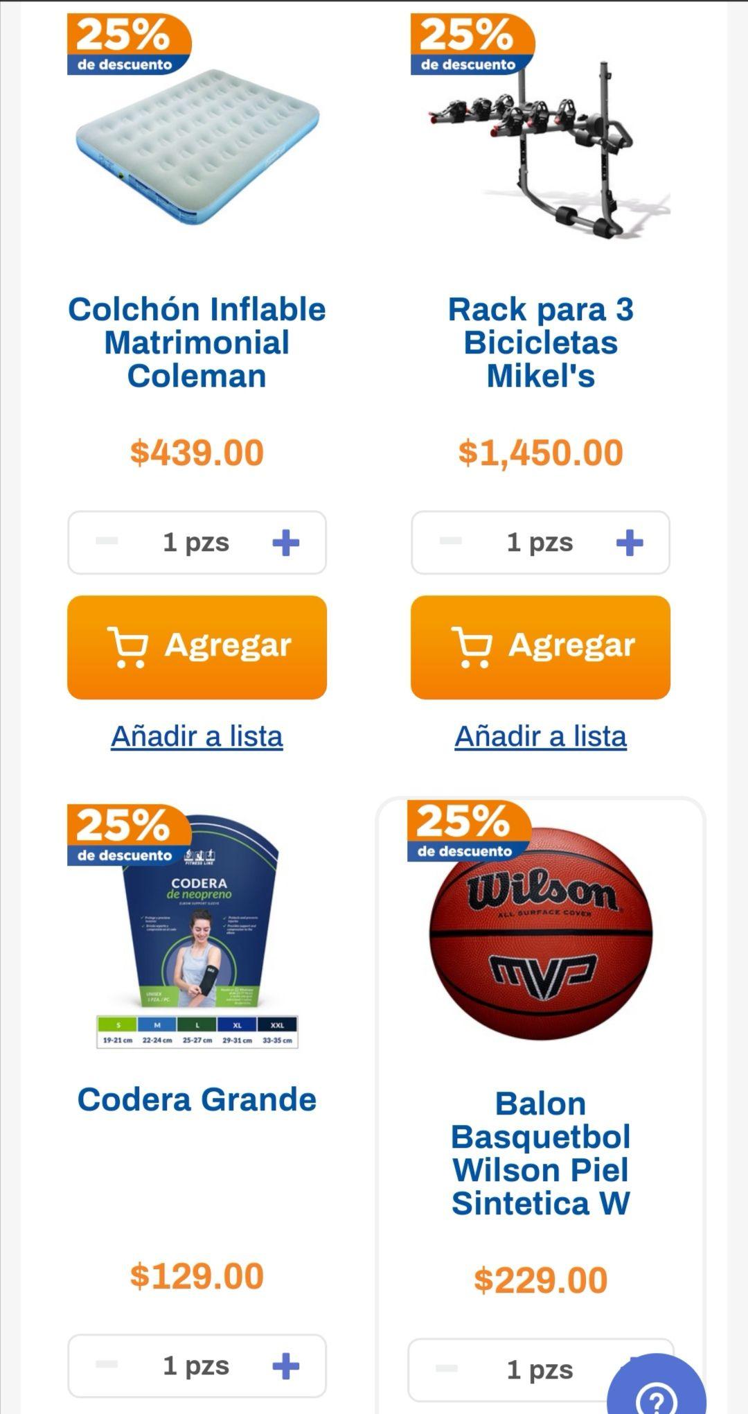 Chedraui: 25% de descuento en las marcas Coleman, Wilson, Ferlin, Fitness Line y Mikel's del depto. de deportes