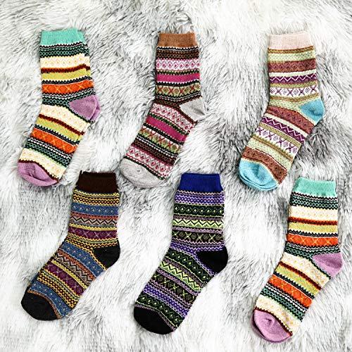 Amazon: 6 pares de calcetines para mujer (contienen lana) multicolor | Unitalla apta para calzado 5-9 | Envío gratis con Prime