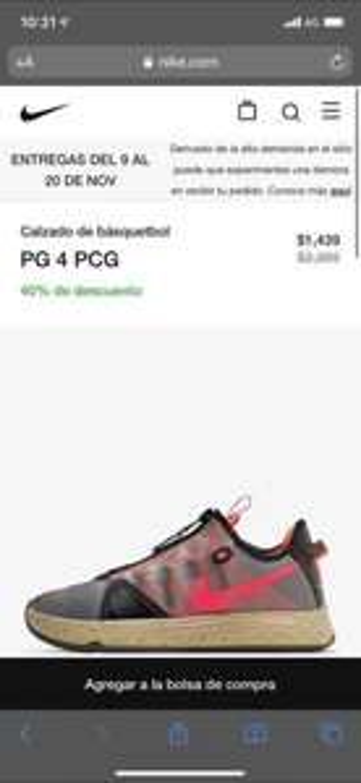 Nike: Calzado de básquetbo l PG 4 PCG