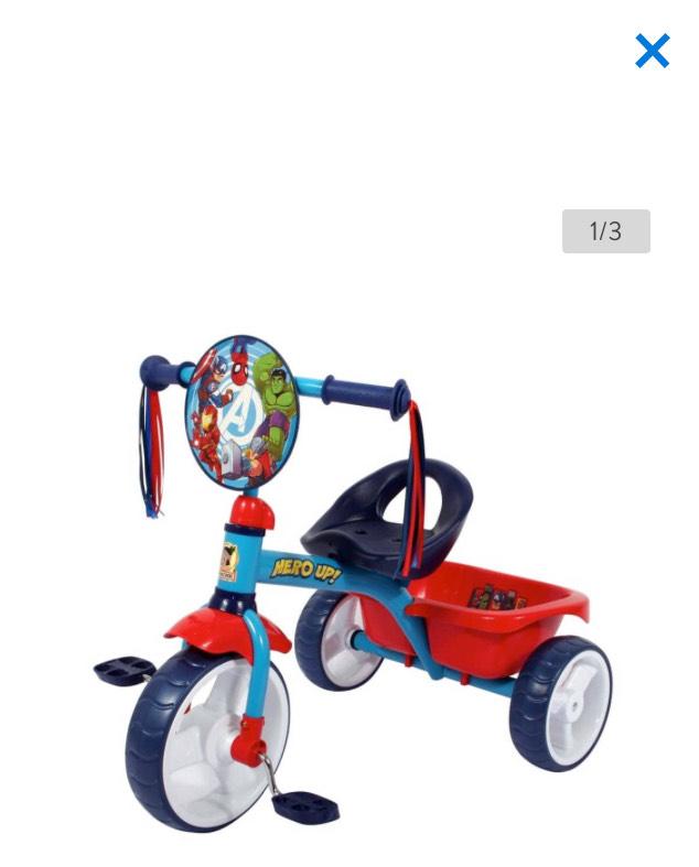 Walmart: Triciclo Avengers Cajuela Grande
