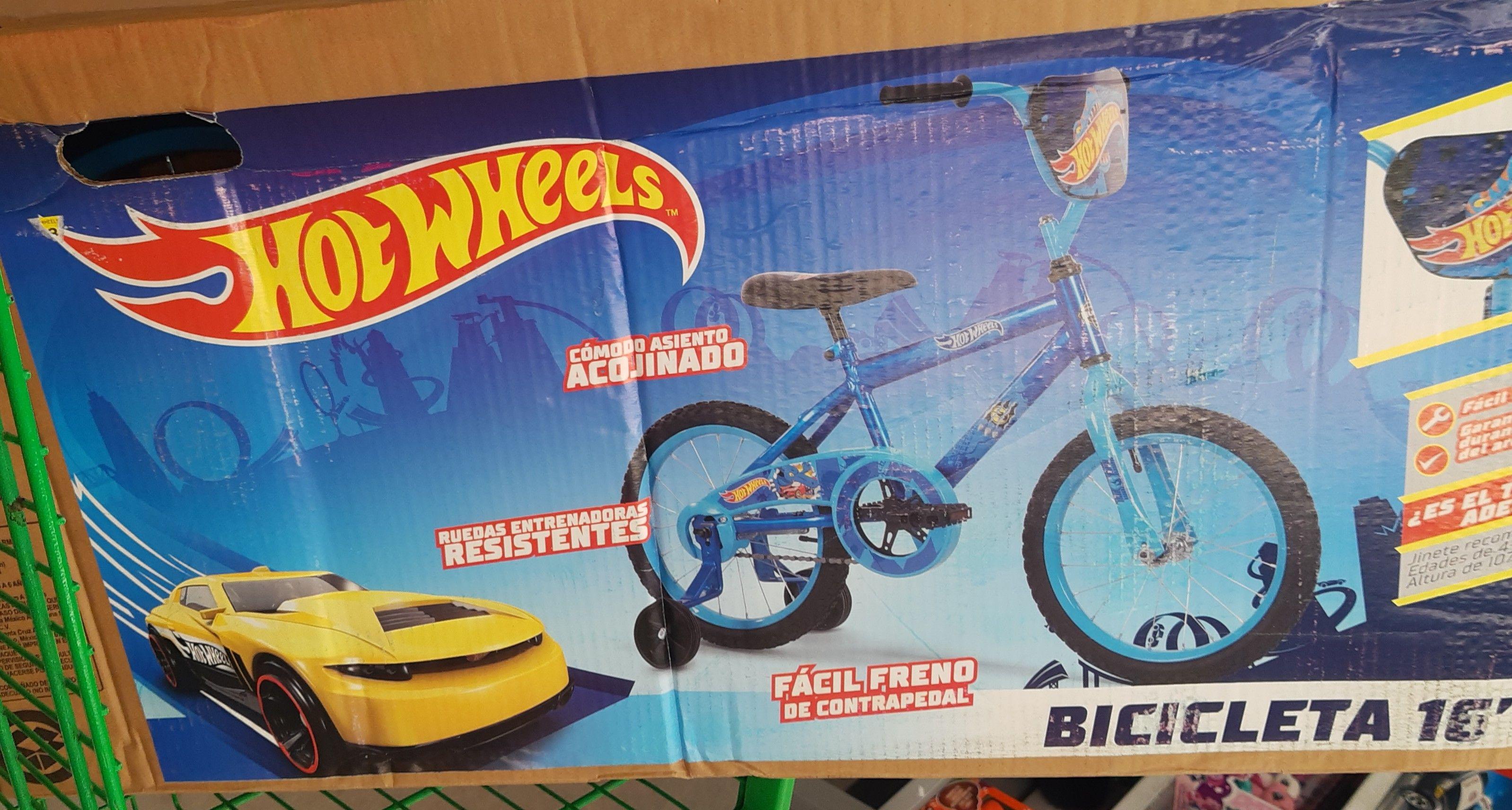 Bodega Aurrera: bicicleta hot wheels