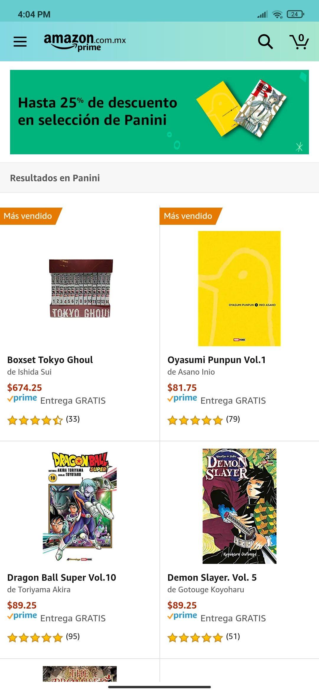 Amazon: hasta 25% de descuento en selección Panini
