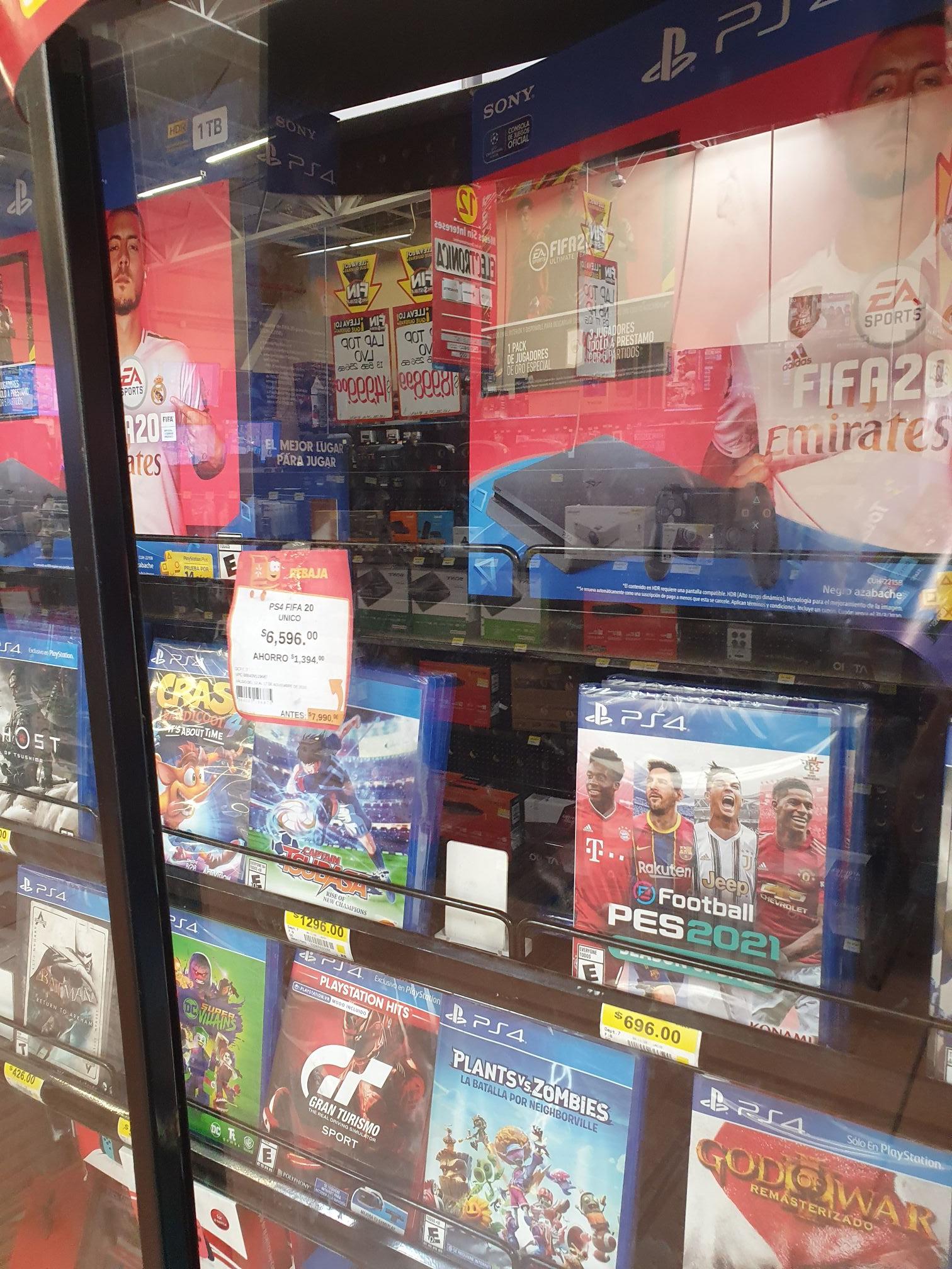 Walmart: Consola PS4 FIFA 2020