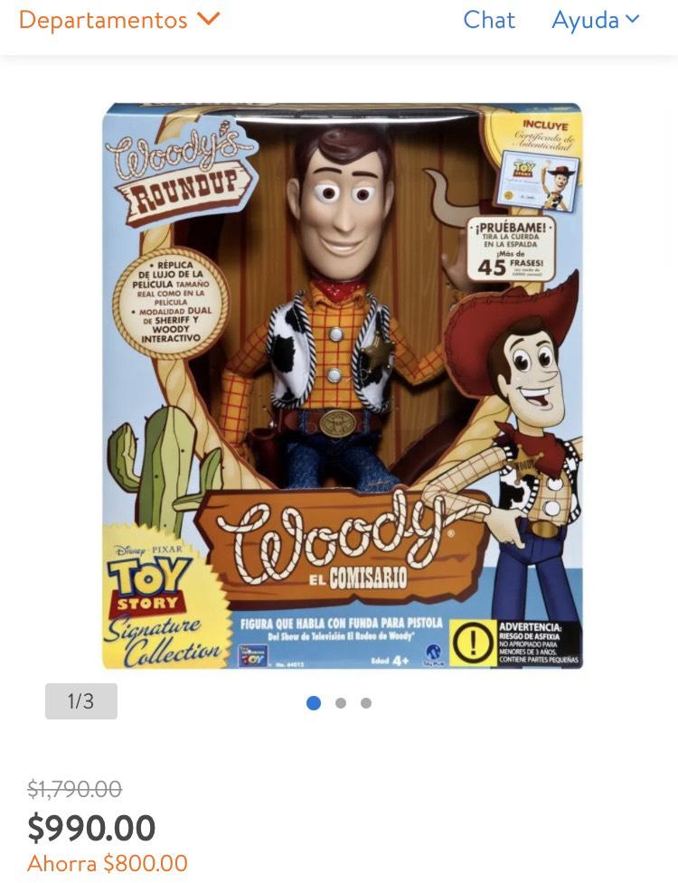 Walmart: Figura de acción Disney Pixar Toy Story Woody el comisario 1 pza