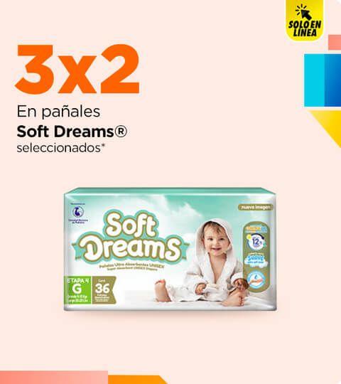 Chedraui: 3 x 2 en pañales Soft Dreams y Flexi Protect seleccionados