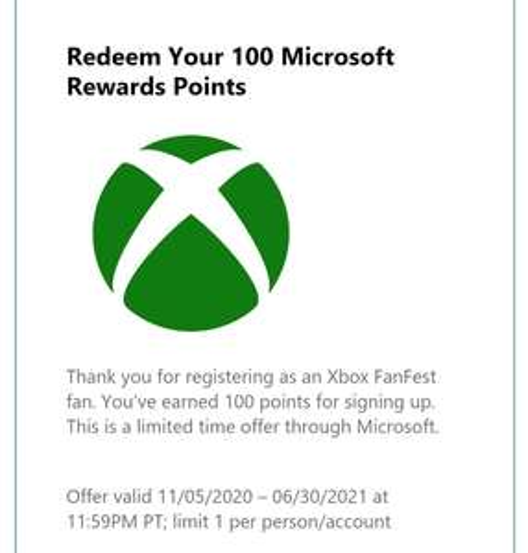 Microsoft Rewards: 100 puntos gratis