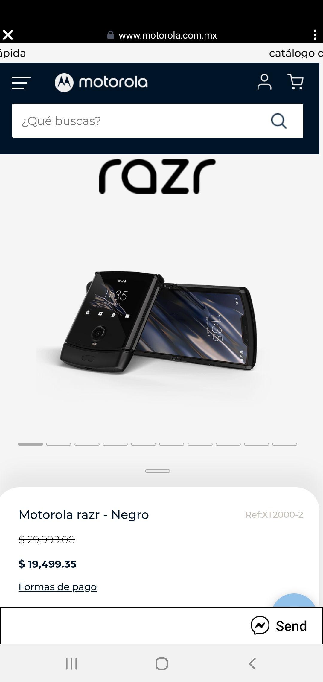 Motorola: Celular Motorola razr - Negro de 128 GB