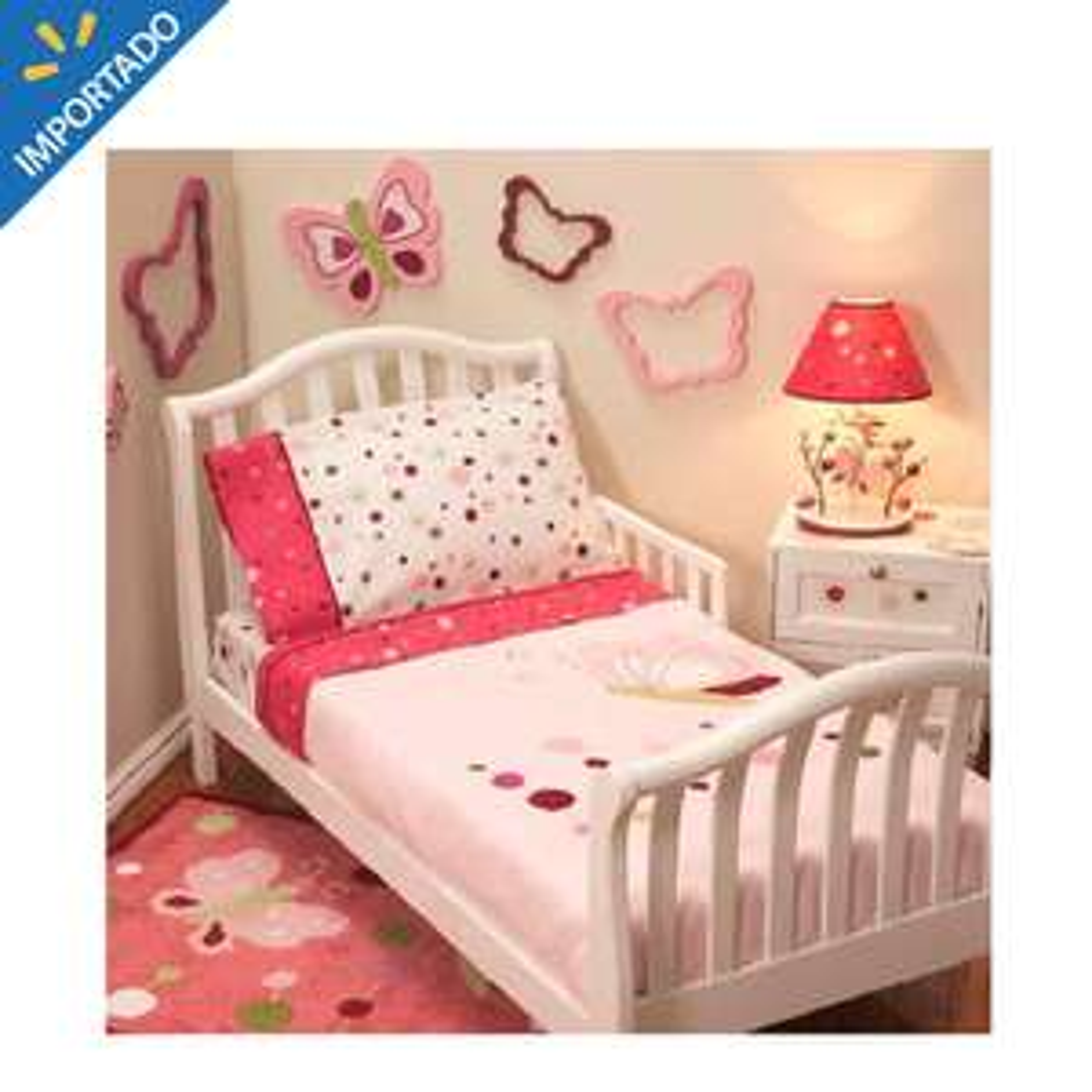 Walmart online: Kit de Cama Infantil Lambs & Ivy Raspberry Swirl 4 piezas Rosa de $1020 a $290