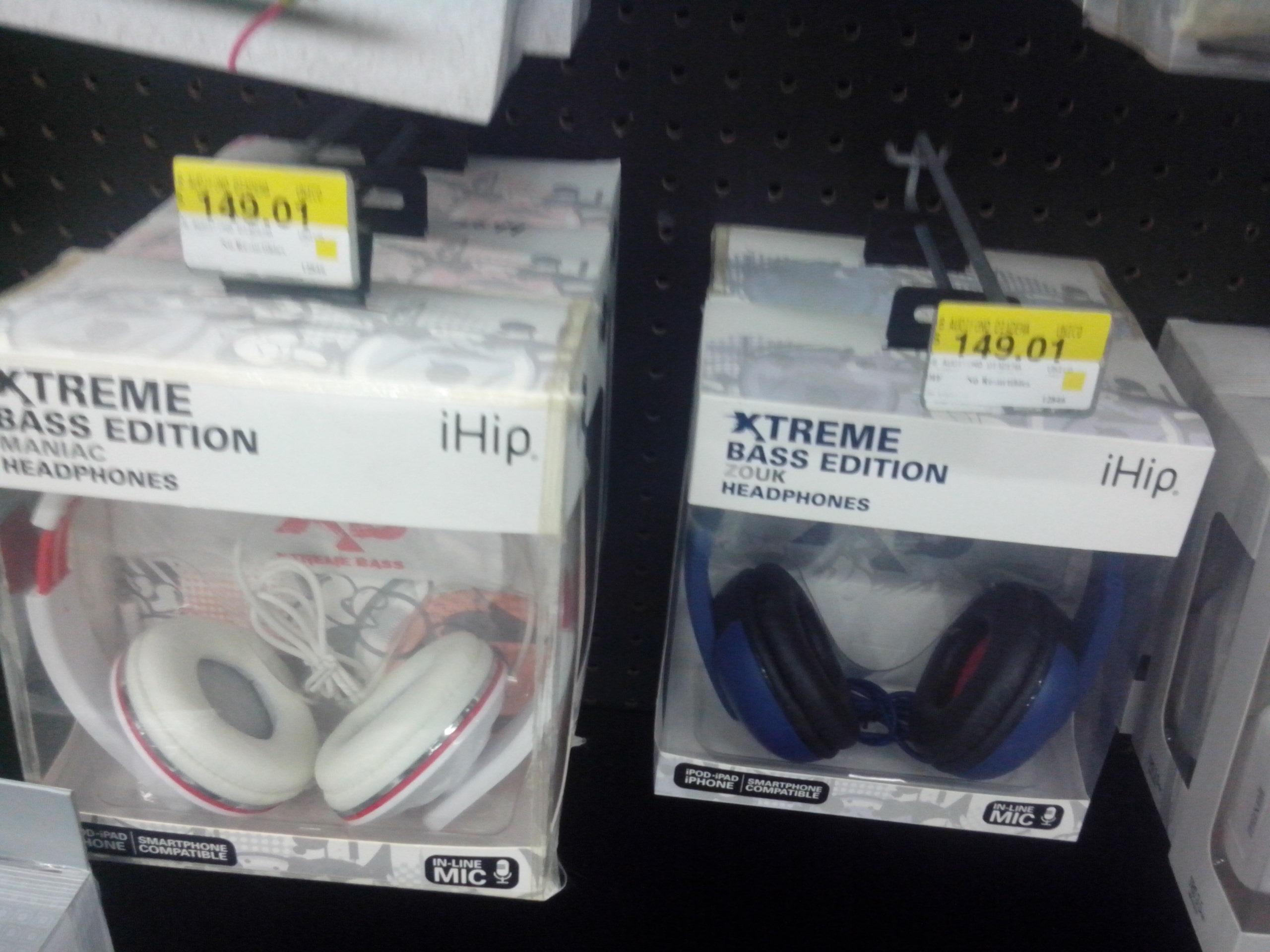 Walmart Salina Oaxaca: audifonos iHip xtreme bass edition en liquidacion $149.01