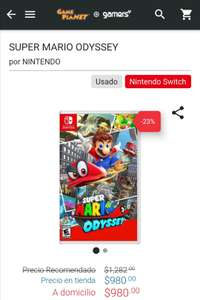 Game Planet: Super Mario Odyssey usado.