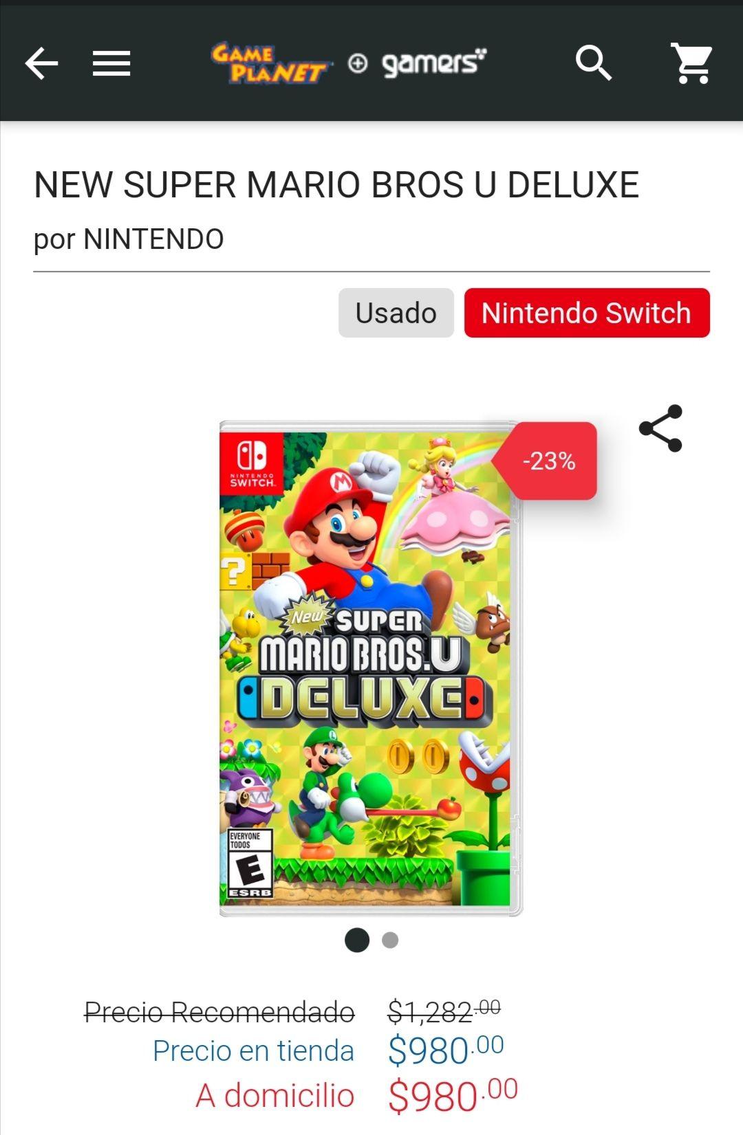 Game Planet: NEW SUPER MARIO BROS U DELUXE para Nintendo switch