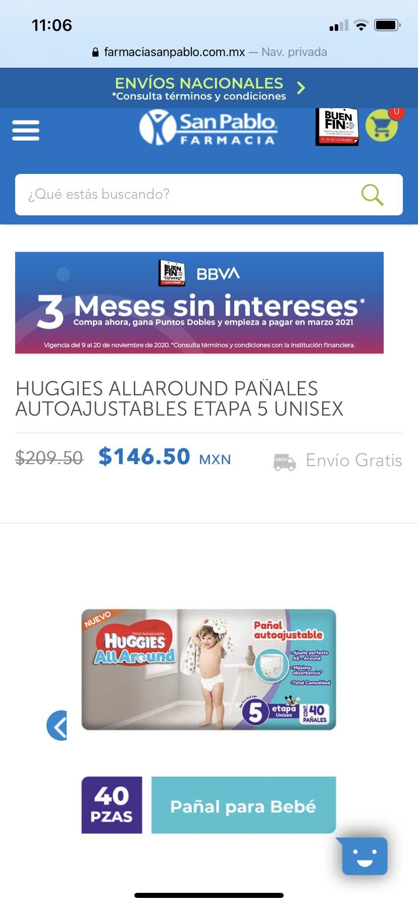 Farmacia San Pablo: HUGGIES ALL AROUND ETAPA 5 40 PAÑALES