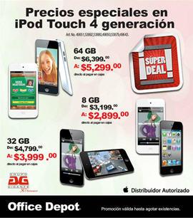 iPod touch 4ta generación baja de precio