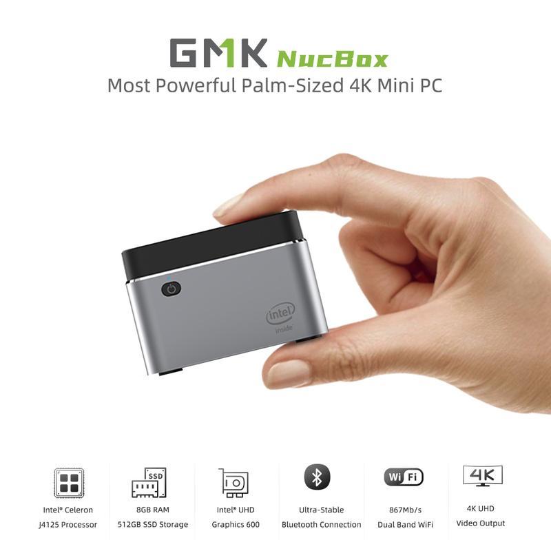 mini PC GMK NucBox 8GB RAM+128GB SSD (mas capacidades disponibles)