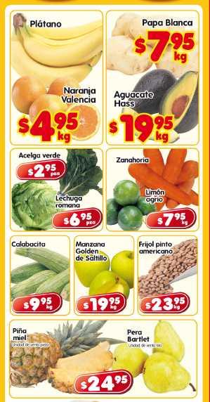 Frutas y verduras en HEB: plátano y naranja a $4.65 c/u y más