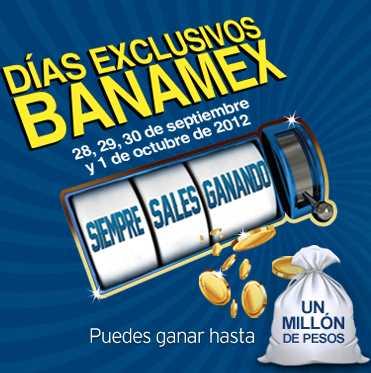 Días exclusivos Banamex septiembre 28 a octubre 1: meses sin intereses y ofertas especiales