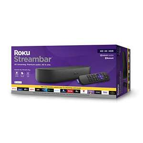 Amazon: Roku Streambar | 4K/HD/HDR y Audio Premium, Todo en uno