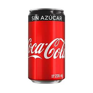 Amazon: Coca-Cola Sin Azúcar, 24 Pack - 235 ml/lata