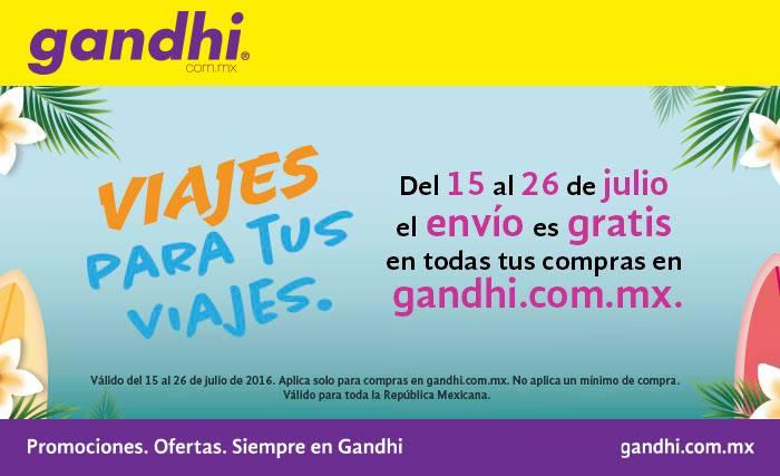 Librerías Gandhi: envío gratis del 15 al 26 de julio