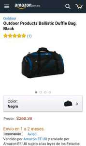 Amazon: Ballistic Duffle Bag marca Outdoor (maleta deportiva)