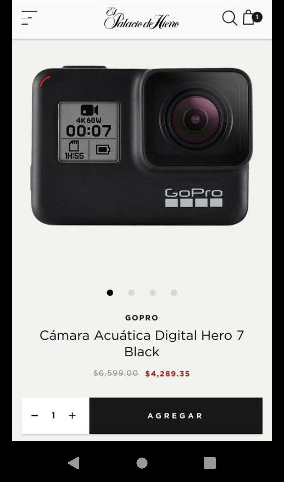 El Palacio de Hierro: GoPro hero 7 black (Con Banamex a MSI)