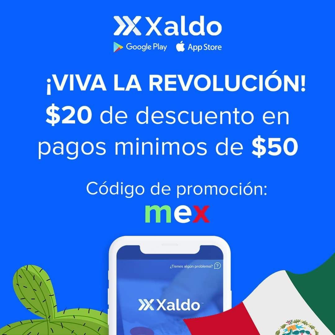 Xaldo: $20 de descuento en pagos de $50 en cualquier servicio o recargas