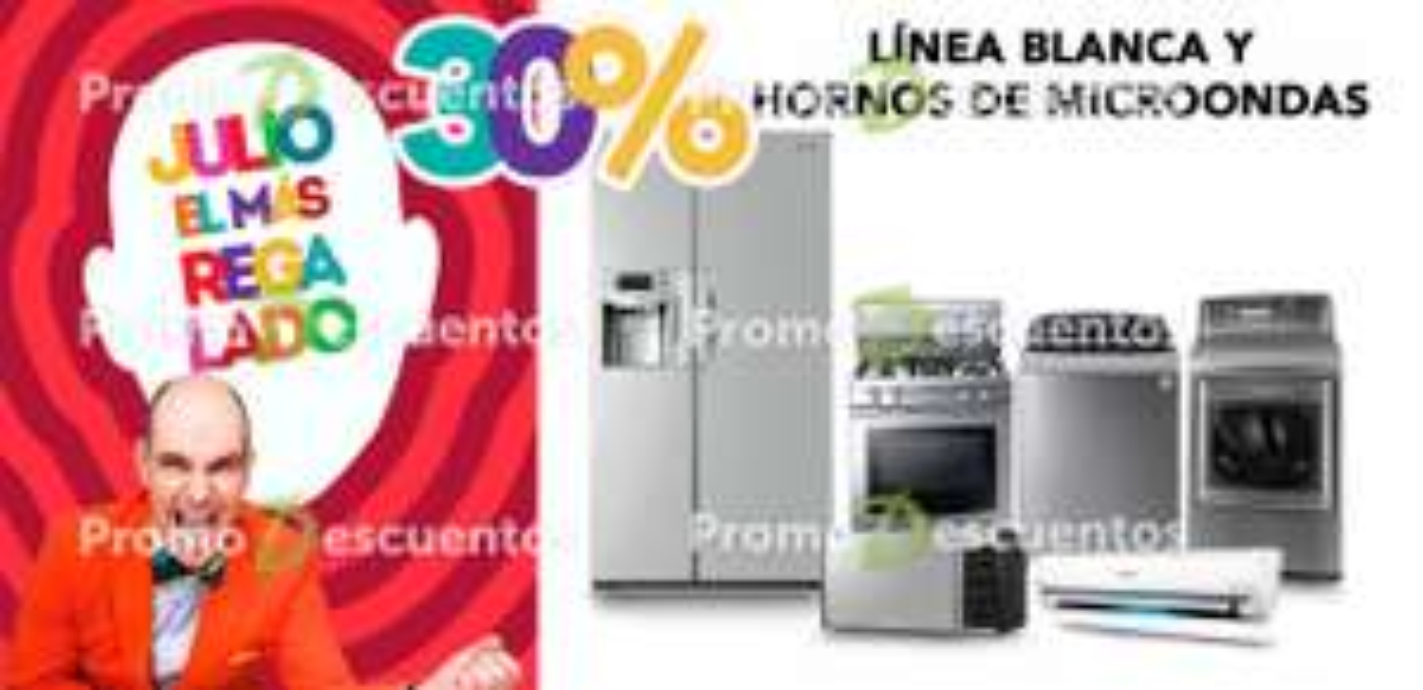Promoción de Julio Regalado 2016 en Soriana y Comercial Mexicana: 30% de descuento en línea blanca, 20% en farmacia y más
