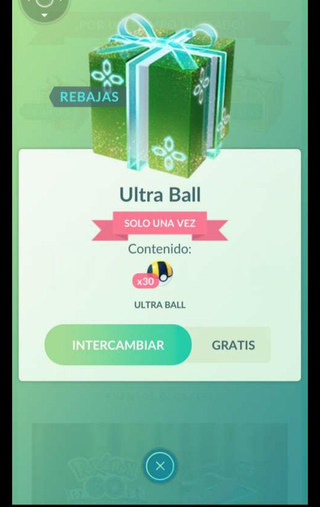 Pókemon Go: Ultra ball gratis