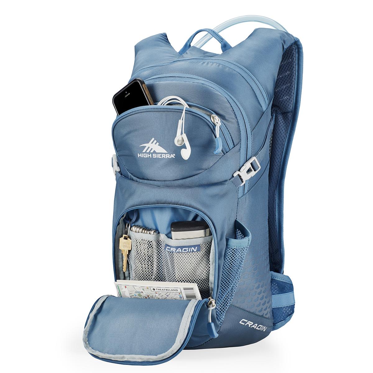 Costco: High Sierra mochila con kit de hidratación color azul