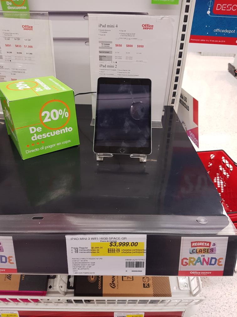 Office Depot: iPad mini 3 16GB  $3,199.2