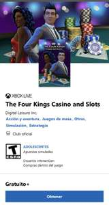 Xbox: The Four Kings Casino and Slots para Xbox One