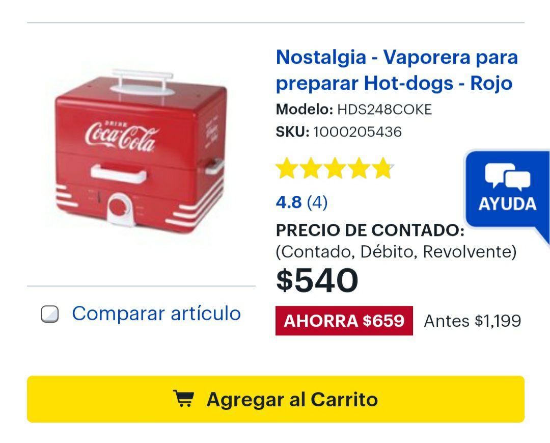 Best Buy: Vaporera para Hotdogs Nostalgia