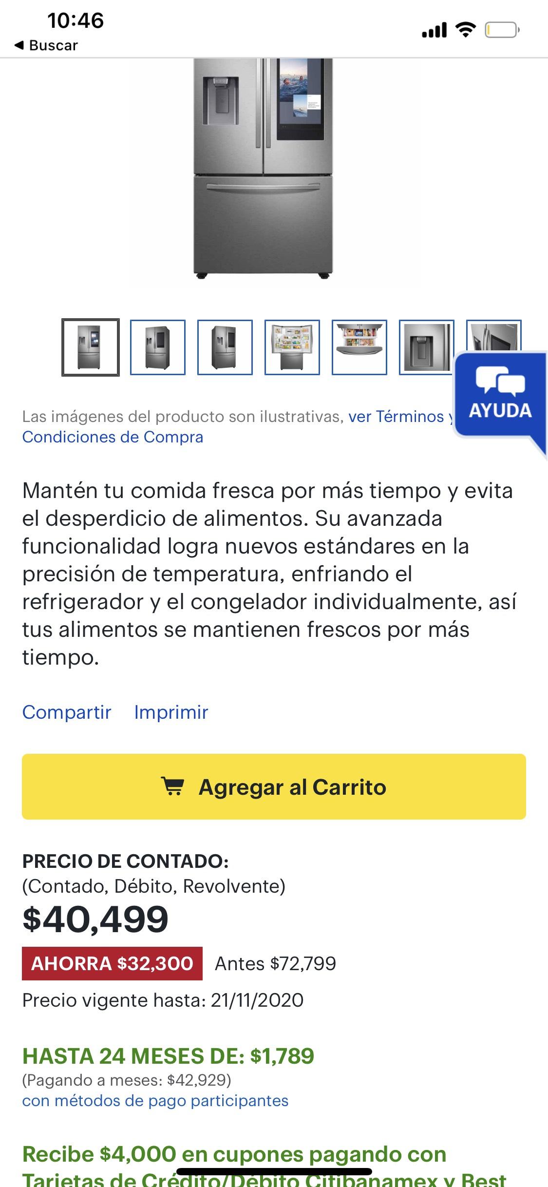 Best Buy: Samsung - Refrigerador de French Door 27 Pies Cúbicos