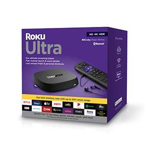 Amazon: Roku Ultra 2020 + Audífonos | HD/4K/HDR/Dolby Vision/Dolby Atmos