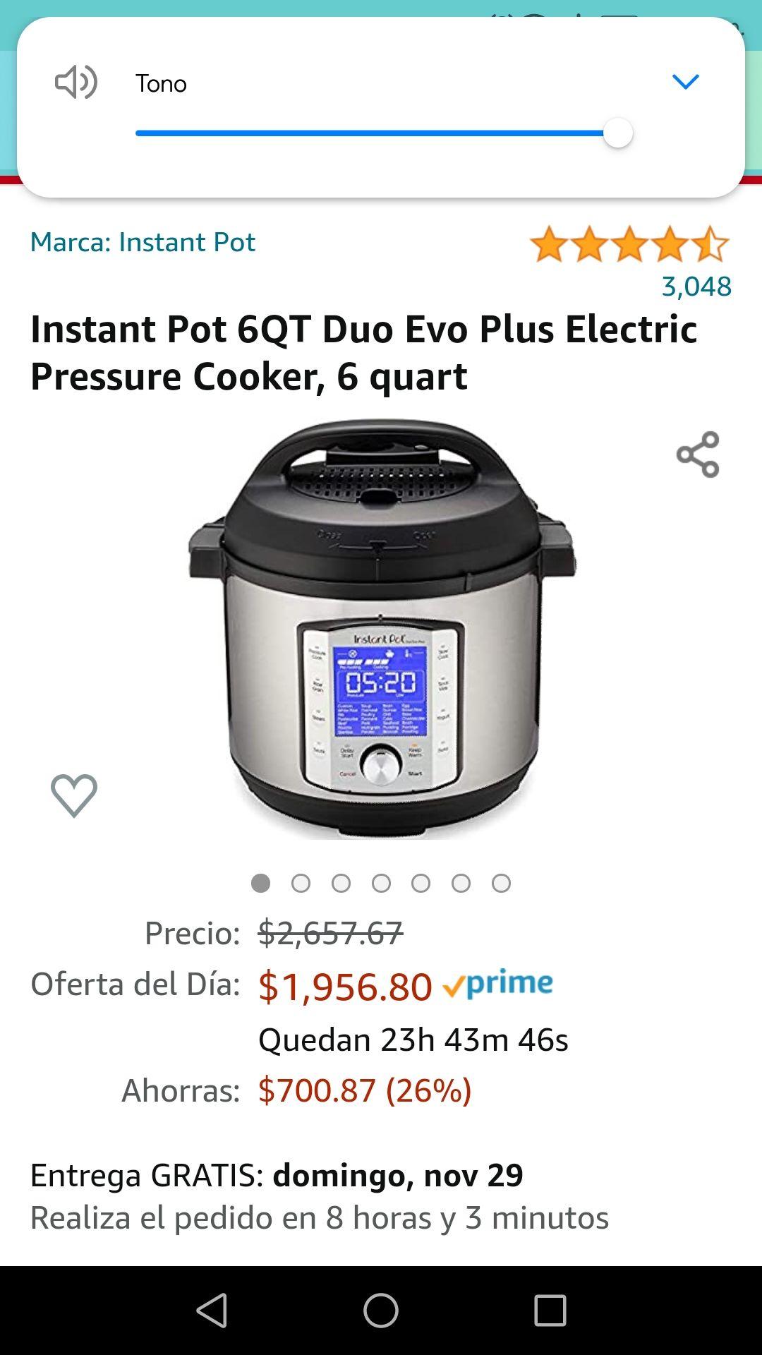 Amazon: Instant Pot Duo Evo Plus de 6qt