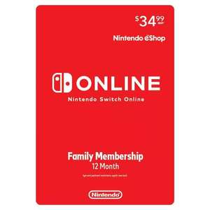 Target: Membresía familiar 12 meses Nintendo Online