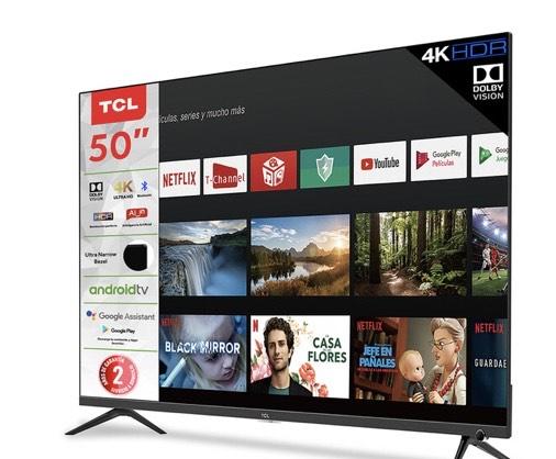 Costco: TCL Pantalla 50'' 50A527 Android TV 4K UHD, comando de voz