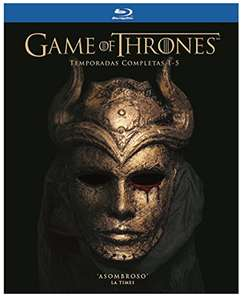 Amazon: Game of Thrones temporadas 1-5 Blu-ray $1199.00 oferta relámpago