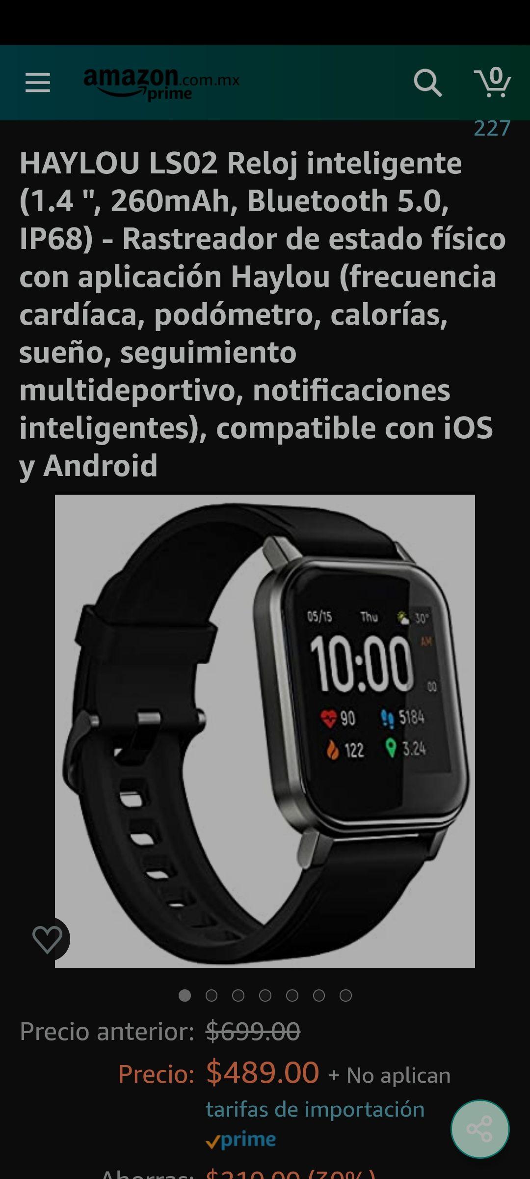 Amazon: HAYLOU LS02 Reloj inteligente