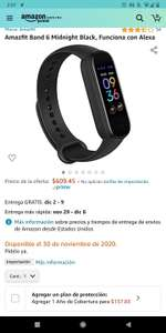 Amazon: Amazfit Band 6 (Mi Band 5 con Alexa) vendido y enviado por Amazon EU