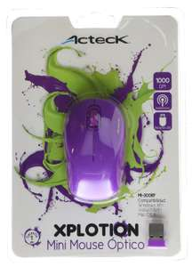 Amazon MX: Mini mouse Inalambrico Acteck Morado a $97