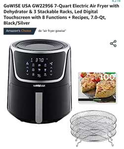 Amazon: GoWISE USA GW22956 7-Quart Electric Air Fryer with Dehydrator & 3 Stackable Racks, Led Digital Touchscreen + Recipes, 7.0-Qt