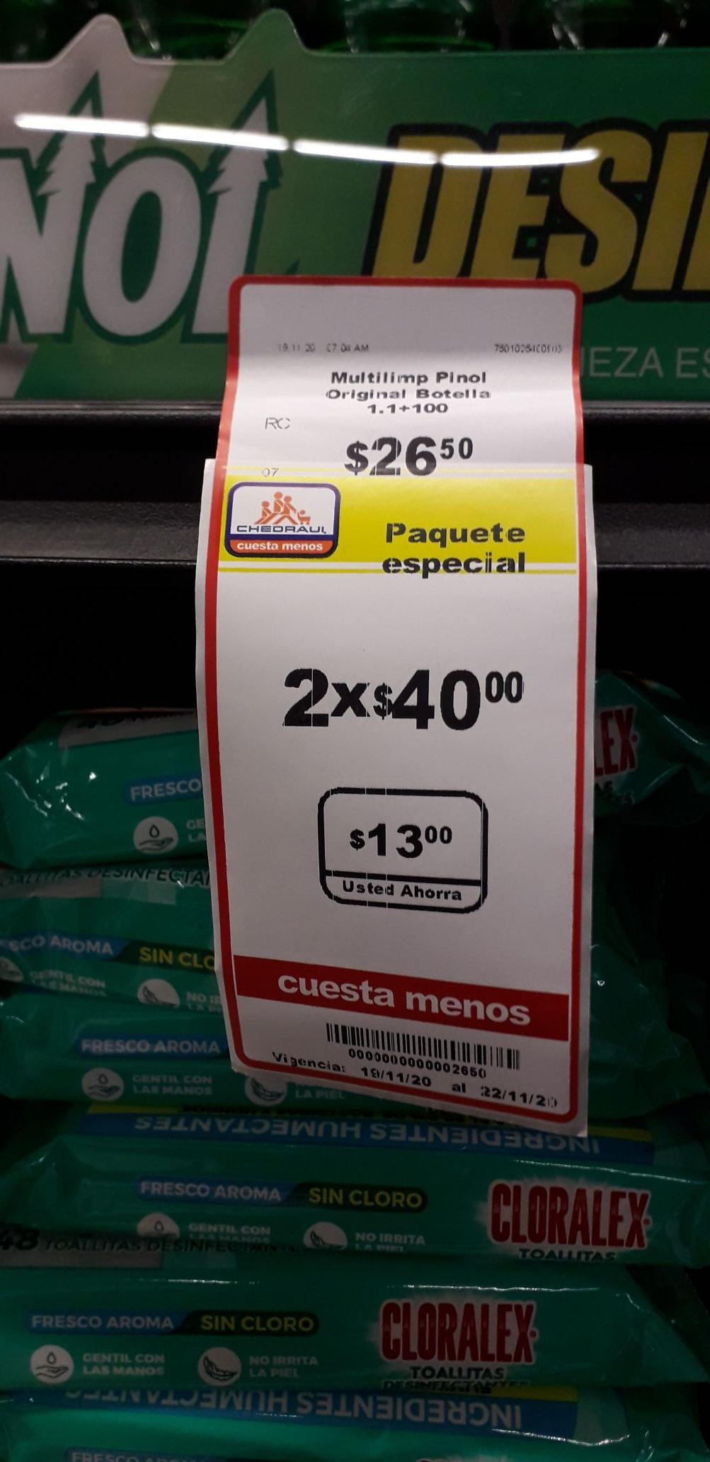 Chedraui: 2.42L de pinol en $40