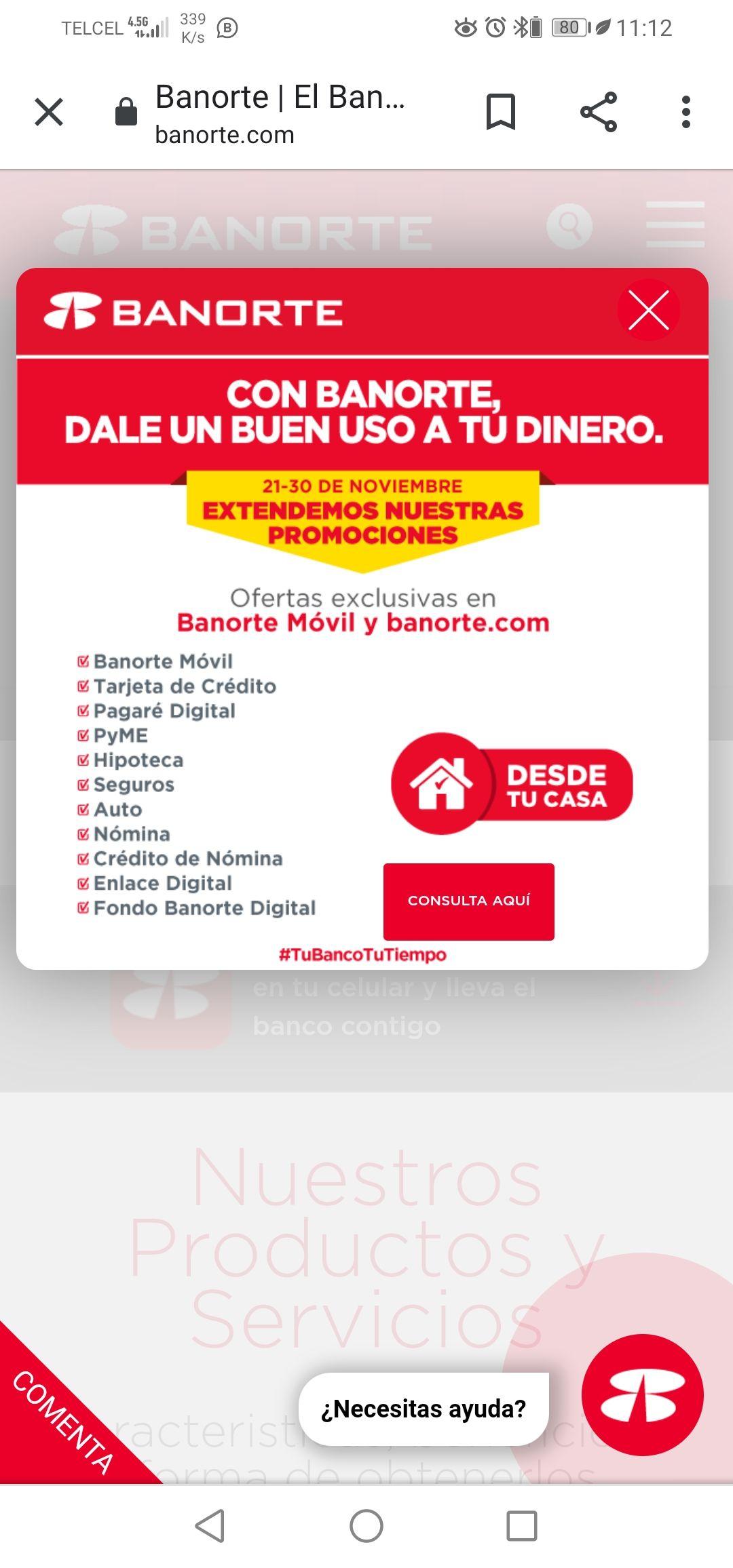 Banorte: Extiende sus promociones del BUEN FIN del 21 al 30 de Noviembre