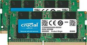 Amazon: Crucial CT2K8G4SFRA32A - Kit de Memoria DDR4 16gb ram(8x2) para laptop