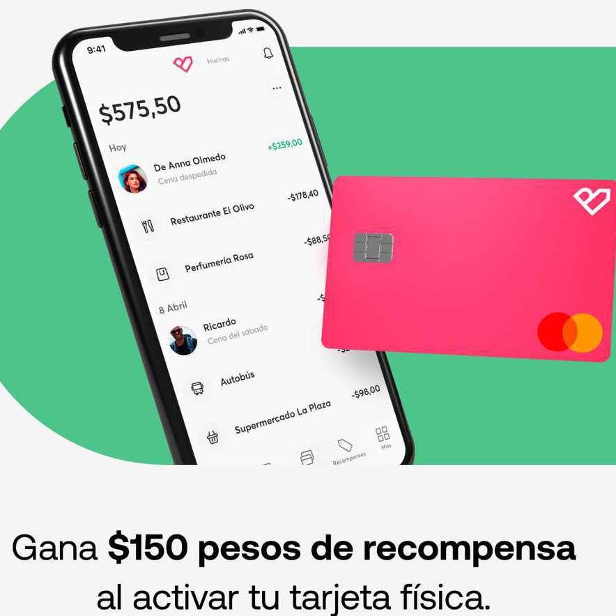 Bnext: $150 al activar tu tarjeta física + Cashback de 5% con tope de $30 en tiendas seleccionadas
