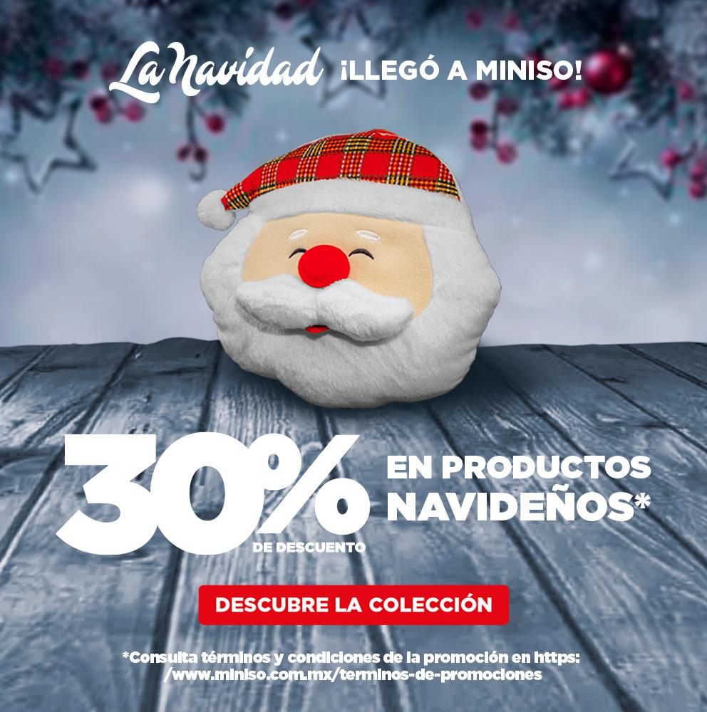 Miniso: 30% de descuento en productos navideños