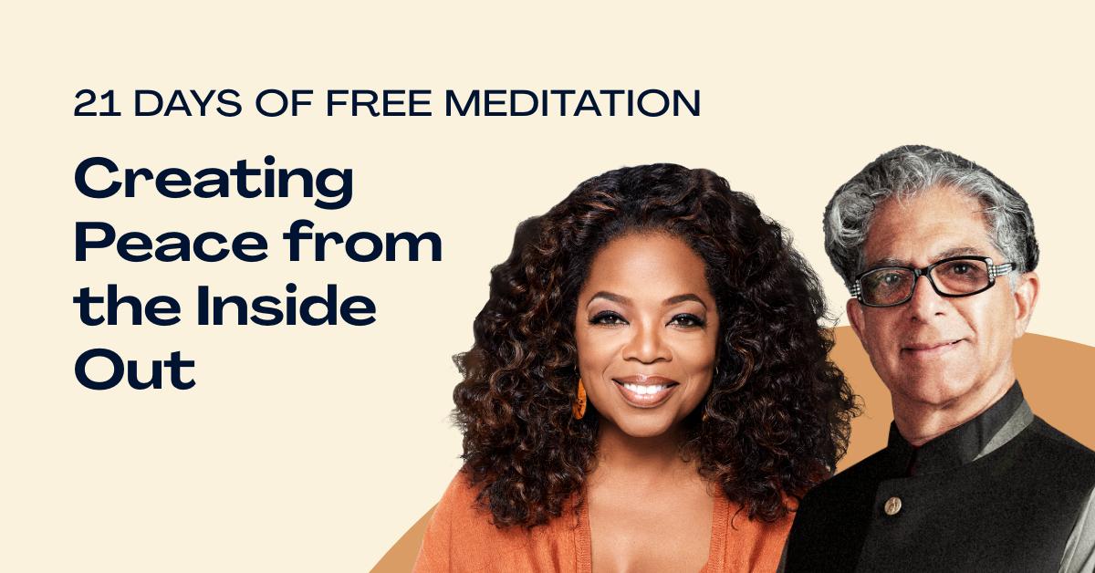 21 días de Meditación con Oprah Winfrey y Deepak Chopra en Ingles Gratis !!!