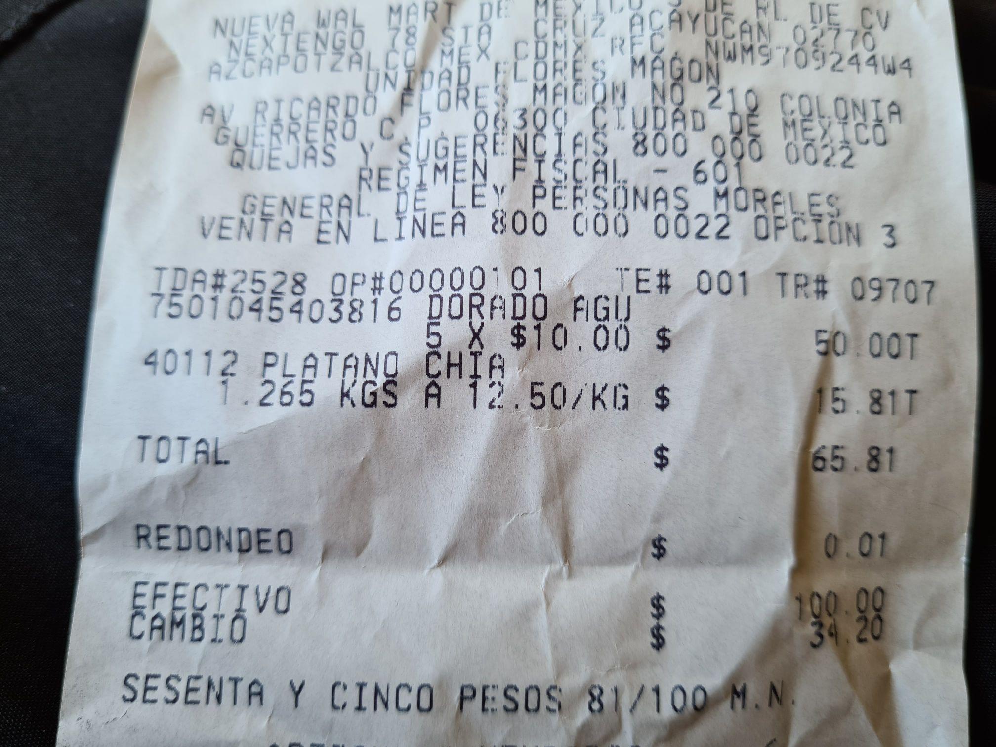Bodega Aurrerá: ATÚN dorado agua 285g $10